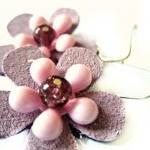 Pink and purple suede flowe..